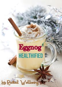 Eggnog healthified. Taught a class at Whole Foods and this sample was gone before everyone could try it!     http://www.RootedWellbeing.com/HolidayUpgradeEguide
