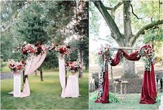 Wedding arches alter wedding ideas / http://www.deerpearlflowers.com/wedding-ceremony-arches-and-altars/