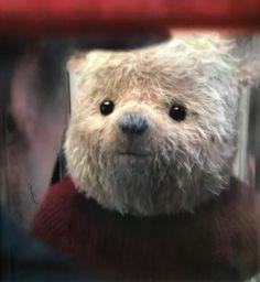 "Pooh Bear from the ""Christopher Robin"" movie. Disney Family, Disney Love, Eeyore, Tigger, Christopher Robin Movie, Winnie The Pooh Friends, Cute Teddy Bears, Pooh Bear, Cute Faces"