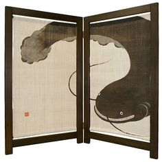 'Namazu' Huge Catfish 2-pcs Tapestry Wall Hanging Produced by Rakushian of Kyoto in Collectibles | eBay