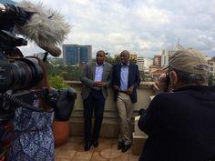 Ivan Mbowa and Munyutu Waigi, founders of Umati Capital, being interviewed for IAT in Nairobi United Nations Development Program, Nairobi, Bradley Mountain, Kenya, Africa, Challenges, Seasons, World, The World