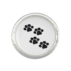 Pets Paw Prints Rings You Can Personalize