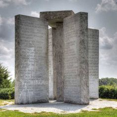 Georgia Guidestones are also known America's Stonehenge. These large granite statues are shrouded with mystery. No one knows who actually commissioned the landmark // localadventurer.com