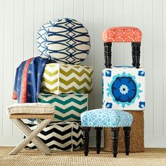 Wisteria - Furniture - Shop by Category - Poufs & Stools - Casablanca Stool - $58
