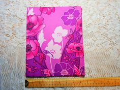 Vintage Fabric Covered Journal Cover, COVER ONLY, Journal Book Making, Upcycled Hardcover Book Junk Journal Scrapbooking Crafts Art Supply by on Etsy Journal Covers, Book Journal, Scrapbook Supplies, Scrapbooking, Dread Beads, Book Making, Fabric Covered, Vintage Floral, Arts And Crafts