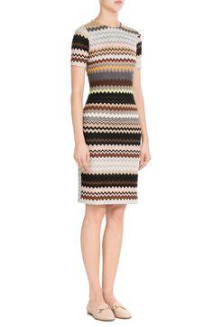 Missoni Crochet Knit Dress with Wool look detail