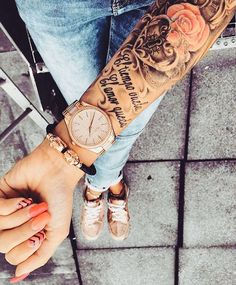 Tattoo swag forearm or cuff ideas for men and women - Brenda O. - Tattoo swag forearm or cuff ideas for men and women – -