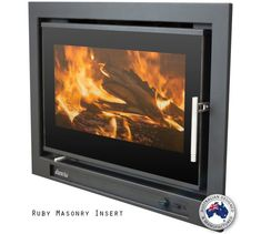 Proudly made in Australia, the Eureka Pearl Inbuilt Wood Fireplace combines high heat output and efficiency with low emissions for a superior burn. Wood Burning Fireplace Inserts, Wood Burning Fires, Wood Fireplace, Fireplace Design, Fireplaces, Fireplace Ideas, Insert Stove, Zero Clearance Fireplace, Outdoor Heaters