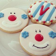 Cut Out Cookies, Iced Cookies, Cute Cookies, Royal Icing Cookies, Cupcake Cookies, Sugar Cookies, Circus Theme Cakes, Themed Cakes, Circus Cookies