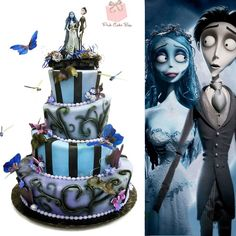 """How amazing is this Corpse Bride wedding cake by Pink Cake Box """