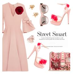 """""""Blush Fridays"""" by pensivepeacock ❤ liked on Polyvore featuring Charlotte Olympia, Valentino, Roksanda, Chanel and CÉLINE"""
