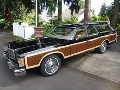 Beautifully preserved 1977 Ford LTD Country Squire. You didn't see many in black!!