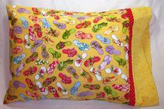 Travel Size Pillowcase - Fancy Flip Flops