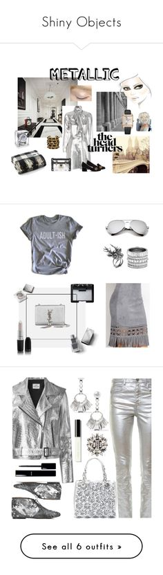 """""""Shiny Objects"""" by janeundone on Polyvore featuring Yves Saint Laurent, Jaeger-LeCoultre, Gucci, Louis Vuitton, Chanel, Humör, Mulberry, Henri Bendel, Burberry and NARS Cosmetics"""