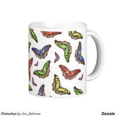 Flutterbys Basic White Mug