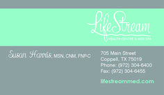 LifeStream Business Card created by Marni G Designs #MarniGDesigns #BusinessCard #BC #LifeStream