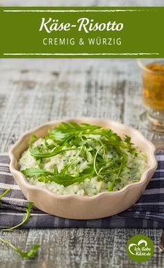 Köstliches Risotto mit frischem Rucola und Käse. <3