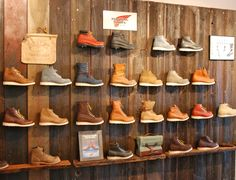 Rustic/Vintage shoe display