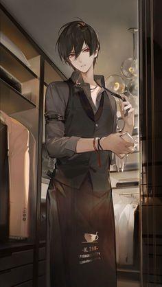 Anime Demon Boy, Dark Anime Guys, M Anime, Cool Anime Guys, Hot Anime Boy, Handsome Anime Guys, Chica Anime Manga, Anime Angel, Anime Boys