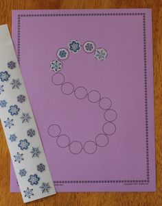 S is for Snow Day!  Fine motor fun and alphabet recognition for your kids.