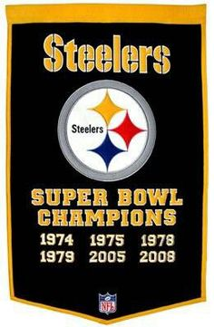 Pay homage to the success of your favorite team with this NFL Pittsburgh Steelers Super Bowl XLV Dynasty Banner. Crafted from a wool blend, this banner is the perfect addition to any sports room or sports memorabilia collection. Steelers Flag, Steelers Pics, Here We Go Steelers, Pittsburgh Steelers Football, Pittsburgh Sports, Steelers Stuff, Football Team, Pitsburgh Steelers, Football Things