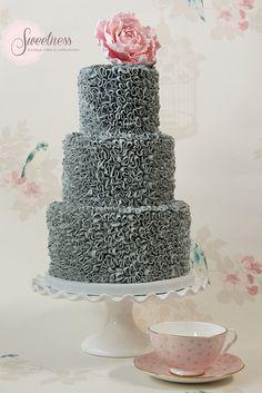 Buttercream swirls celebration cake. www.sweetnessonline.co.uk | Flickr - Photo Sharing!