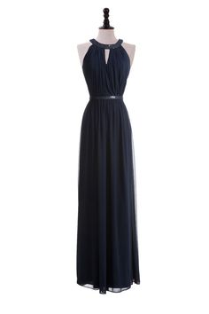 Sequin Collar Chiffon Gown