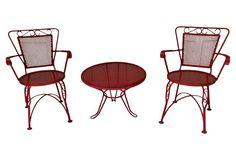 Patio Side Table & Chairs, 3 Pcs. | Jen Petranto Designs
