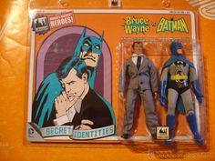FIGURAS BATMAN Y BRUCE WAYNE WORLD'S GREATEST HEROES MEGO SERIES 2 PACK 56/100 REEDICION 2014 - Foto 1