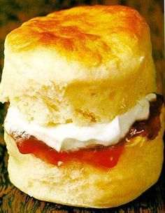 Traditional English Scones with Clotted Cream