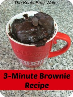 3-minute brownie in a mug recipe