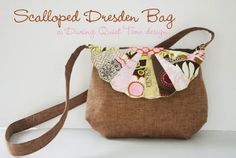 Free Bag Pattern and Tutorial - Scalloped Dresden Bag