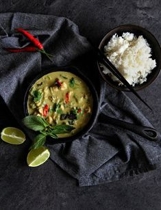Thajské zelené kari 2 Foto: Asian Recipes, Ethnic Recipes, Palak Paneer, Thai Red Curry, Vietnam, Asian Food Recipes