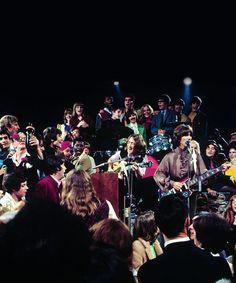 "* The Beatles! * September 4th, 1968:The Beatles filmed promotional films for ""Hey Jude"" and ""Revolution"" at Twickenham Film Studios."