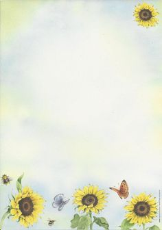 """Floral"":  ""Sunflowers & Butterflies"" letter pad"