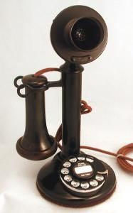 Party like it's the roaring 20s with this gorgeous candlestick telephone, complete with dial. OldPhoneWorks: $649.95