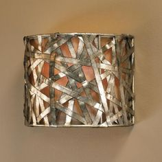 """Alita Collection Silver Leaf 9"""" High Wall Sconce"""