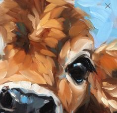Cow Painting, inch original impressionistic oil painting of a Cow, paintings of cows, cow art Cow Painting, Painting & Drawing, Realistic Eye Drawing, Drawing Eyes, Farm Art, Simple Acrylic Paintings, Cow Art, Animal Paintings, Bright Eyes