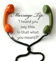 Truth for all of life! Speak a blessing: Relationship conflict often arises from simple misunderstandings. Ask for clarification rather than making assumptions. *Huge list of marriage tips here! Marriage Relationship, Marriage And Family, Happy Marriage, Marriage Advice, Relationships, Family Life, Wedding Quotes, Wedding Things, Wedding Ideas