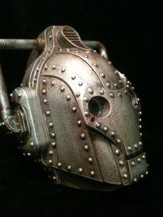 Custom  Steampunk Doctor Who Cyberman Helmet Dr Who by kyoob, $150.00 @Jane Szabaga @Aubrey Russell