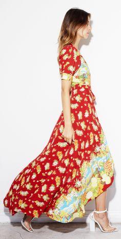 red summer maxi dress