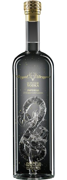 Royal Dragon Vodka Imperial 750mL (Russia) For all you vodka packaging lovers. PD