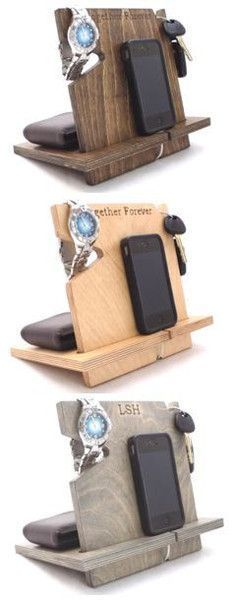 Men love our wooden docking stations! They are a great way to get organized and can be personalized with laser engraved text of your choice! Plus, all orders receive free shipping!