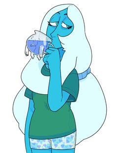 Blue diamond. I just realized she is drinking from the Kool Aid dude.