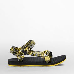 """Featuring a bold, textured pattern that tells the story of city life, this enhanced Original is part of the <a href=""""http://www.teva.com/artist-series/"""">Teva Artist Series</a>, which donates 10% of every purchase to kids' art education programs provided by P.S. ARTS. The sandal's one-of-a-kind artwork was design by visionary Portland design studio Jolby & Friends."""