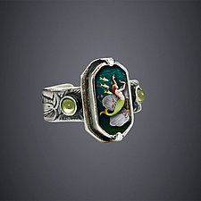 """Dance of the Kelpies Ring by Dawn Estrin (Silver Ring) (0.65"""" x 0.35"""")"""