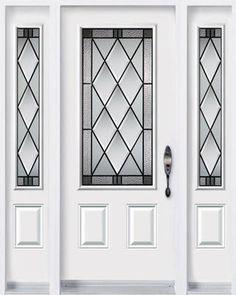 Novatech 2 panel Steel Classic Door with Gothic Glass