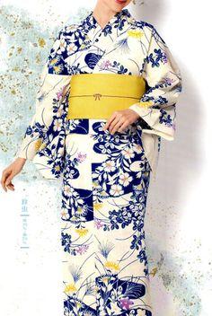 Kimono Eemonya | Rakuten Global Market: Note dyed hand-dyed kimono yukata moist yukata series No.27 Hagi nadeko pale cream color yukata kimono Genji large small