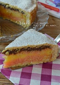 Crostata alla zuppa inglese ricetta dolce - Barbarous Tutorial and Ideas Italian Cake, Italian Desserts, Italian Recipes, Pie Dessert, Dessert Recipes, Lunch Recipes, Tortilla Sana, Italian Lunch, Torte Cake