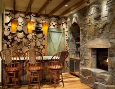 Yellowstone Club Residence - traditional - family room - other metro - Hunter and Company Interior Design